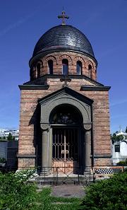 Mausoleum der Familie des Grafen Anton Prokesch von Osten auf dem Grazer St. Leonhard-Friedhof, erbaut von Theophil Hansen im Jahr 1872, Foto: UMJ, B. Berner.
