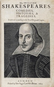 William Shakespeare. Porträt auf der legendären