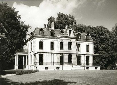 Villa Bühler, the romantic location of the Münzkabinett Winterthur.