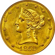 Lot 2153: USA. Liberty Eagle 1852-O. MS-60 (PCGS). Sold: 111,625 USD.