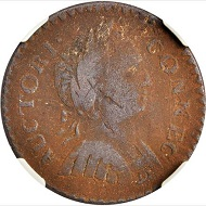 Lot 5204: USA. Connecticut Copper 1786. From the Anderson-Gleckler Collection. Rarity-7. VF-20 BN (NGC). Sold: 17,625 USD.