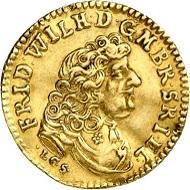 Los 1017: Brandenburg. Friedrich Wilhelm, 1640-1688. Dukat 1683, LCS, Berlin.