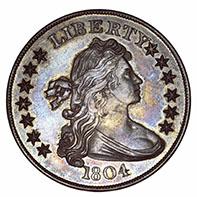 1804 dollar, Idler / Bebee specimen (Class III).