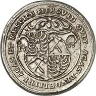 Los 1596. RDR. Silbergussmedaille 1533 des Grafen Nikolaus III. von Zrinyi. Aus der Ausbeute des Silberbergbaus im Zrinyi-Gebirge. Äußerst selten. Sehr schön, zeitgenössischer Guss. Taxe: 500 GBP. Zuschlag: 10.000 GBP.