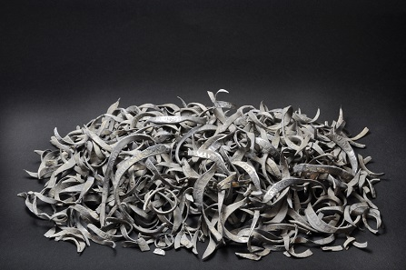Hoard of 463 silver coin clippings and fragments from Gloucestershire deposited in about the 1640s, during the English Civil War. Expert: Barrie Cook, BM Medieval coin curator. © The Trustees of the British Museum.