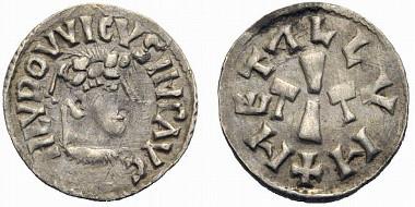 Karolingisches Reich. Kaiser Ludwig I. (der Fromme), reg. 814-840. Denar (Silber). Melle o.J.