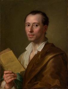Johann Joachim Winckelmann in einem Porträt von Raphael Mengs, 1755.