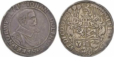 Los 365: Schleswig-Holstein-Gottorf. Johann Adolf, 1590-1616. Reichstaler 1611. R. s. Schätzpreis: 350 EUR.