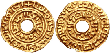 Lot 652: Malay Archipelago. Native Kingdoms. Dinar, circa 11th century or later. VF. Estimate: 200 USD.