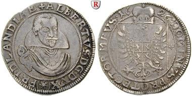 Habsburgische Erblande. Österreich. Friedland und Sagan, Herzogtum, Albrecht von Wallenstein, Taler 1626, ss-vz/ss. 20.000 EUR.
