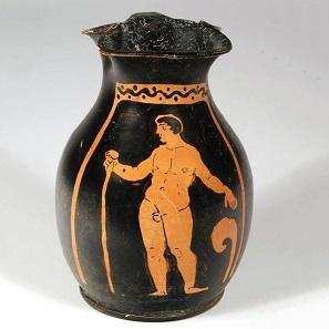 No. 61. Western Greek Oinochoe. Size: 13,3 cm. Western Greek, Campania, 2nd quarter 4th century B.C. Estimate: 1,100-1,450 Euro.