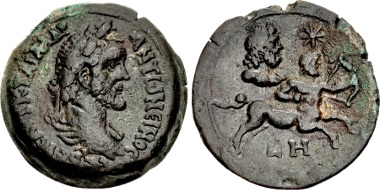 Lot 478: Egypt, Alexandria. Antoninus Pius. AD 138-161. Drachm, AD 144/5. From the H. Mitchell Collection. Good VF. Estimate: 4,000 USD.