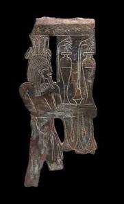 Bronze-Applik mit Personifikation der Nilschwemme. Spätzeit, 7.-6. Jh. v. Chr. Foto: © Fondation Gandur pour l'Art, Genève, Suisse; alle Rechte vorbehalten.