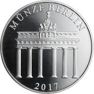 2017 / .999 Silber / 32,5 mm / Design: Stefanie Lindner, Münze Berlin.