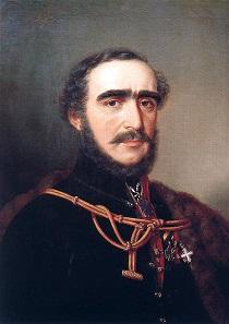 Count István Széchenyi. Painting by Miklós Barabás, 1848.