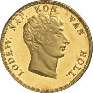 Los 88: Niederlande / Holland. Ludwig Napoleon, 1806-1810. 1 Gulden 1807, Utrecht. Schulman 153 Anm. Erstabschlag, fast Stempelglanz. Taxe: 60.000 Euro.