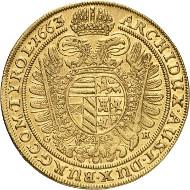 Los 246: RDR. Leopold I., 1657-1705. 10 Dukaten 1663, Breslau. Fast vorzüglich. Taxe: 100.000 Euro.