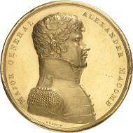 Lot 214: USA. Congressional Gold Medal for Alexander Macomb (1782-1841). Extremely fine to FDC. Estimate: 150,000 euros.