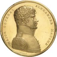 Los 214: USA. Goldene Ehrenmedaille des US-Kongresses für Alexander Macomb (1782-1841). Vorzüglich bis Stempelglanz. Taxe: 150.000 Euro.
