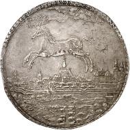 Los 360: Braunschweig-Lüneburg. Christian Ludwig, 1648-1665. Löser zu 8 Reichstalern 1654, Clausthal. Welter 1481. Sehr schön bis vorzüglich. Taxe: 100.000 Euro.