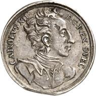Los 1580: Schwedische Besitzungen. Karl XI., 1660-1697. Kleine Silbermedaille o. J. (um 1692). Aus Slg. Ottar Ertzeid. Gutes sehr schön. Taxe: 50,- Euro.