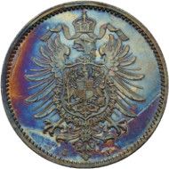 Lot 2052: Germany. 1 mark 1875 J. J. 9. Toni Barth Collection. Proof, minimally touched. Estimate: 400 euros.