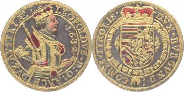 Los 1139: Haus Habsburg. Erzherzog Leopold. Taler 1632, Hall. Vorzüglich. 1.200 Euro.