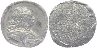 Los 618: Altdeutschland. Einseitiger Zinnabschlag/Probe (von Susanna Preissler) o.J. (um 1745) mit einer Porträtstudie von Franz I. Sehr schön-vorzüglich. 1.175 Euro.