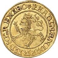 Ferdinand I. Dukat 1547, Prag. Künker 285 (2017), 218. Schätzung: 15.000 Euro.