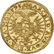 Rudolf II. Dukat 1593, Prag. Künker 285 (2016), 224. Schätzung: 4.000 Euro.