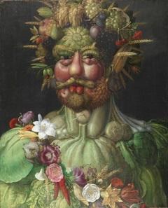 Rudolf II. als Vertumnus, Ölgemälde von Giuseppe Arcimboldo. Schloss Skokloster.