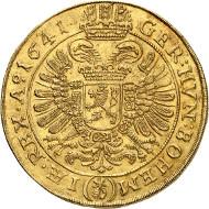 Ferdinand III. 5 Dukaten 1641, Prag. Künker 285 (2016), 238. Schätzung: 20.000 Euro.