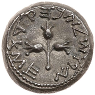 First Revolt Year Four Shekel, 69/70 CE.