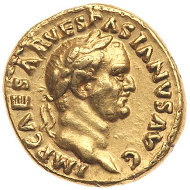 Judaea Capta Aureus, 69/70 CE.