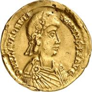 Los 1049: Römisches Kaiserreich. Valentinianus III., 425-455. Solidus, 440/455, Rom. Aus Sammlung Wolfgang Drösser. ss/vz. Schätzpreis: 400 EUR.