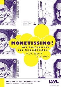 Das Ausstellungsplakat von Monetissimo! © LWL-Museum für Kunst und Kultur / Westfälisches Landesmuseum, Münster. Entwurf: Alexandra Engelberts, Grafikdesign, Münster.