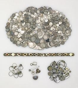 Viel Geld: Schatzfund vom Stadtweinhaus in Münster, wohl 1350. © LWL-Museum für Kunst und Kultur / Westfälisches Landesmuseum, Münster. Foto: Sabine Ahlbrand-Dornseif.