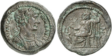 Not all coins from Roman Alexandria have such an impeccable provenance as this one, which comes from the Dattari collection. From Künker 280 (2016), 590.