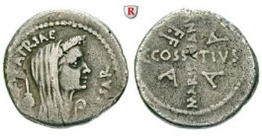 Römische Republik. Caius Iulius Caesar. Denar April/Mai 44 v.Chr. Sehr schön / fast sehr schön. Sonderpreis: 1.445 EUR.