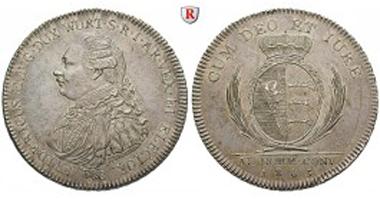 Altdeutschland. Herzogtum Württemberg (Kgr. ab 1806), Friedrich II., Konventionstaler 1803. Vorzüglich+. Sonderpreis: 3.272,50 EUR.