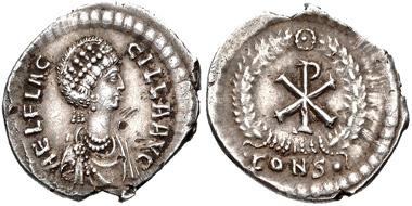 Lot 794: Aelia Flaccilla Augusta, 379-386/8. Siliqua, Constantinople mint, circa AD 383-388. Estimate: 2,000 USD.