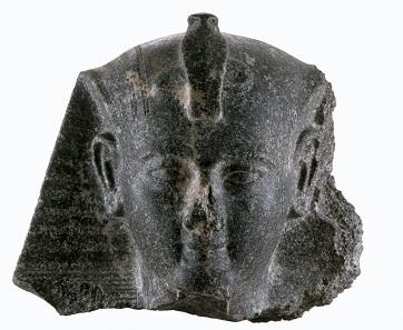 Kopf einer Statue von Ramses II., Roemer- und Pelizaeus-Museum Hildesheim. Foto: © Hildesheim, Roemer- und Pelizaeus-Museum, Sh. Shalchi.