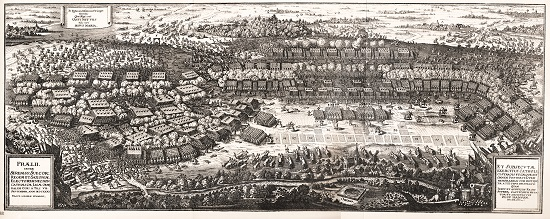 Contemporary depiction of the Battle of Breitenfeld.