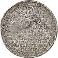 Erfurt. Reichstaler 1632, Purimtaler. Aus Auktion Künker 286 (2017), Nr. 1225. Schätzung: 1.000 Euro.