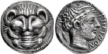 1545: Bruttium. Rhegion. Drachm, 415-387 B.C. Estimate: 4,500 EUR.