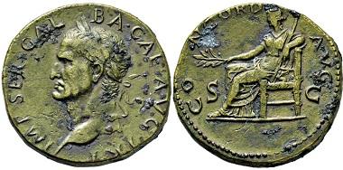 1919: Roman Empire. Galba, A.D. 68-69. Sestertius. Estimate: 5,000 EUR.