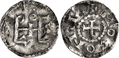 2501: Carolingians. Ludwig the German, 840-876. Denarius. Estimate: 7,500 EUR.