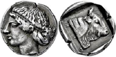 1592: Makedonien. Dikaia. Tetrobol. 450-420 v. Chr. Taxe: 6.000,- EUR.