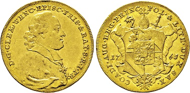 2669: Hochstift Freising. Clemens Wenzeslaus von Sachsen. Dukat 1765. Taxe: 7.500 Euro.
