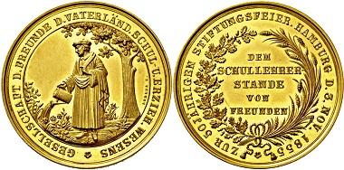 2739: Hansestadt Hamburg. 10 Dukaten 1855. Taxe: 7.000 Euro.